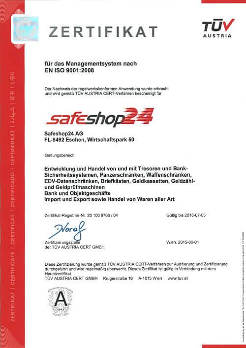 Iso 9001 Zertifizierung TUV Austria