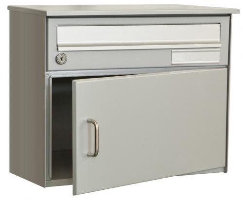 Einzelbriefkasten Skat RAL 9006 Weissaluminium