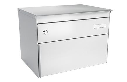 Stebler Briefkasten s:box 13, RAL 9006 Weissaluminium