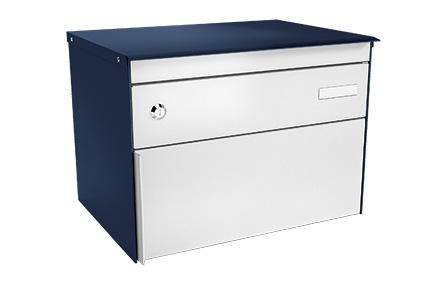 Stebler Briefkasten s:box 13, RAL 5003 Saphirblau/Weissaluiminium