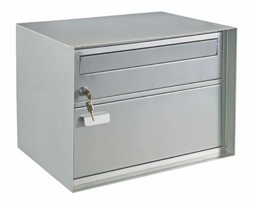 Swiss Mailbox Edelweiss mit Paketfach silber