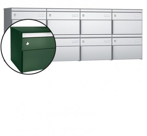 Stebler 8-er Briefkastengruppe, s:box 13, Post-Norm, 4x2, Moosgrün