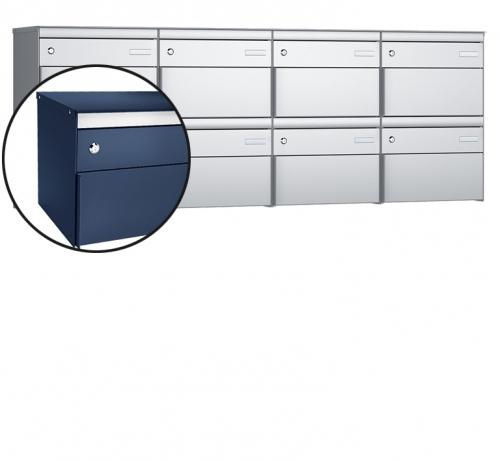Stebler 8-er Briefkastengruppe, s:box 13, Post-Norm, 4x2, Saphirblau