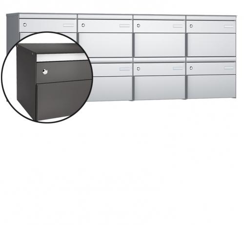 Stebler 8-er Briefkastengruppe, s:box 13, Post-Norm, 4x2, Patina