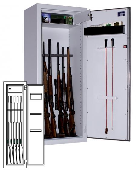 Sistec Waffenschrank WSE 150/40
