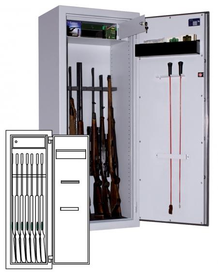 Sistec Waffenschrank WSE 150/50