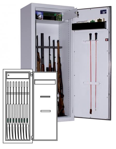 Sistec Waffenschrank WSE 150/60